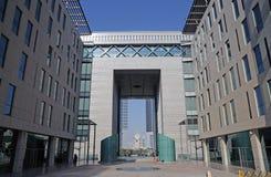 заречье Дубай финансовохозяйственный Стоковое Фото