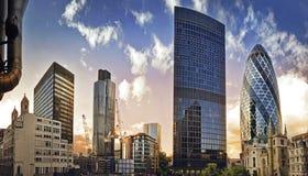 Заречье Лондона финансовохозяйственное Стоковое фото RF