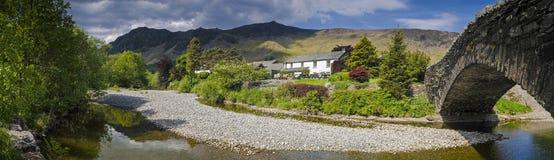 Заречье озера, Cumbria, Великобритания стоковые фотографии rf