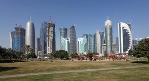 Заречье Doha новое городское, Катар Стоковое Фото