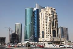 Заречье Doha новое городское, Катар Стоковое Изображение