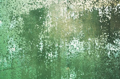 Заржаветая предпосылка зеленого цвета металла Стоковые Фотографии RF
