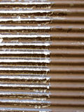 Заржаветая предпосылка металла разделила в 2 раздела Стоковые Фотографии RF