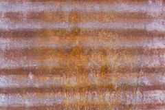 Заржаветая рифлёная стальная панель Стоковая Фотография