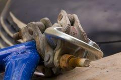 Заржаветое волочение круга металла Стоковая Фотография