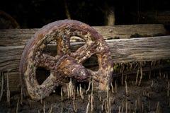 Заржаветое колесо Стоковое Изображение RF