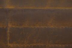 Заржаветые стальные планки с заклепками Стоковое Изображение RF