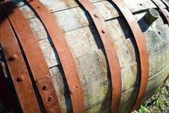 Заржаветый деревянный бочонок Стоковое Фото