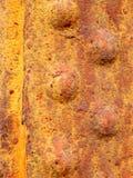 Заржаветый заклепанный металл Стоковые Фотографии RF
