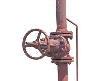 заржаветый клапан Стоковые Изображения RF