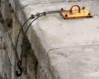 Заржаветый крюк грузового корабля Стоковые Фото