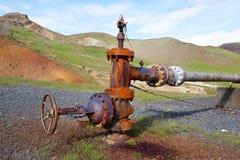 Заржаветый клапан горячего источника Стоковое Изображение