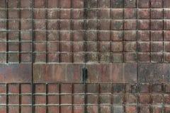 Заржаветый складывая строб металла стоковое изображение