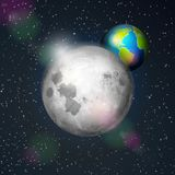 заройте луну иллюстрация штока