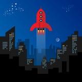 заройте первую поверхность старта разъединения ракеты моментов времени Стоковые Изображения RF