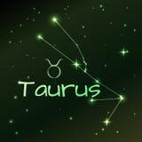 Заройте символ знака зодиака Тавра, гороскопа, искусства вектора и иллюстрации Стоковая Фотография