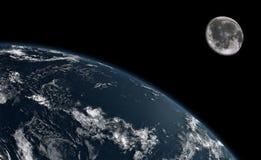 заройте луну Стоковые Изображения