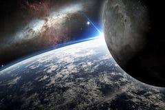 заройте луну Иллюстрация вектора