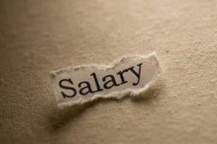 зарплата Стоковая Фотография