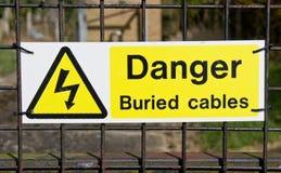 Зарытые в землю кабели Стоковое Изображение RF