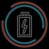 Зарядка аккумулятора вектора - иллюстрация батареи силы, символ электричества - знак энергии иллюстрация вектора