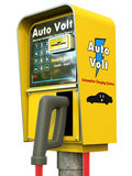 заряжатель автомобиля электрический Стоковые Изображения