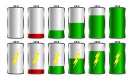Зарядка аккумулятора Использованный для передвижных применений, infographics, веб-дизайн иллюстрация штока