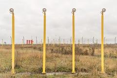 Засаживать света перед авиапортом Стоковая Фотография