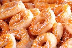 Засахаренная текстура donuts Стоковая Фотография