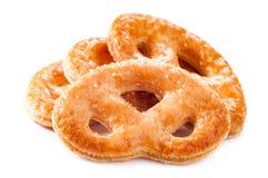 Засахаренные печенья на белой предпосылке Стоковая Фотография