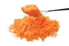 заскрежетанная свежая вилки моркови Стоковое фото RF