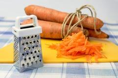 Заскрежетанные моркови Стоковое Фото