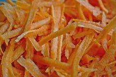 заскрежетанные моркови Стоковое Изображение
