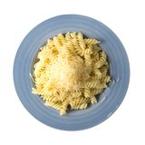 Заскрежетанный сыр на макаронных изделиях Стоковые Изображения RF