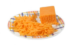 заскрежетанный сыр Стоковые Фото