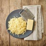 заскрежетанный сыр Стоковая Фотография RF