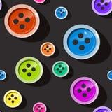 застегивает безшовным Красочная картина кнопки Стоковые Изображения RF