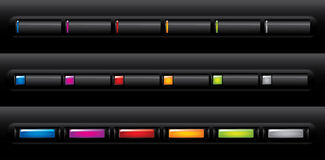 застегивает вебсайт навигации Стоковые Изображения RF