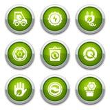 застегивает зеленый цвет экологичности Стоковая Фотография