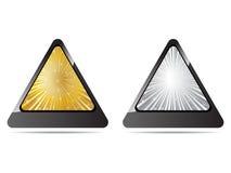 застегивает золотистый серебр Стоковое Изображение