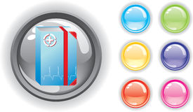застегивает комплект цветастой иконы медицинский Стоковое Фото