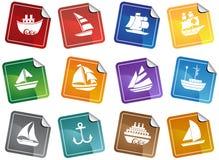 застегивает морскую сеть стикеров бесплатная иллюстрация