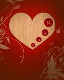 застегивает сердце ткани Стоковое Изображение