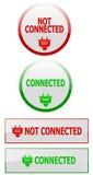застегивает состояние интернета соединения Стоковое Изображение