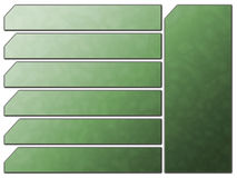 застегивает футуристический зеленый вебсайт камня навигации иллюстрация штока