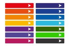 застегивает цветастую сеть комплекта Стоковые Фотографии RF