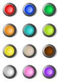 застегивает цветастый комплект круга Стоковые Фотографии RF