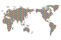 застегивает цветастый мир карты иллюстрация вектора