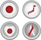 застегивает японию Стоковое Изображение RF