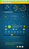 застегивает infographics элементов Стоковые Изображения